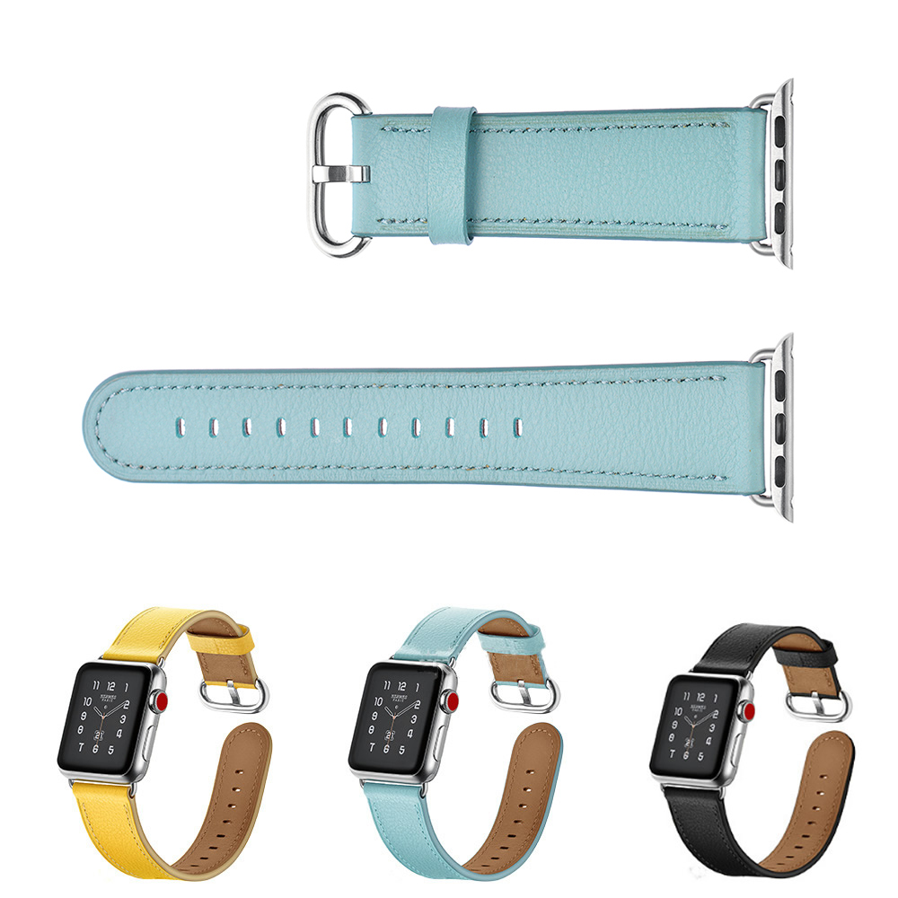 38-42mm Watch Band For Apple Watch Lovely Wrist Band Real Leather Watch Strap For Apple Series 1 2 3 iWatch Watchbands Bracelet 38 42mm watch band for apple watch lovely wrist band real leather watch strap for apple series 1 2 3 iwatch watchbands bracelet