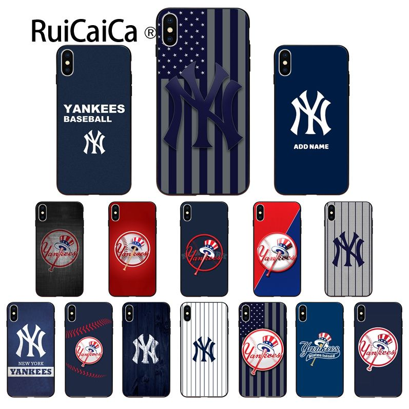 Ruicaica Baseball Yankees Pattern Soft Phone Accessories Cell Phone Case for iPhone X XS MAX 6 6s 7 7plus 8 8Plus 5 5S SE XR