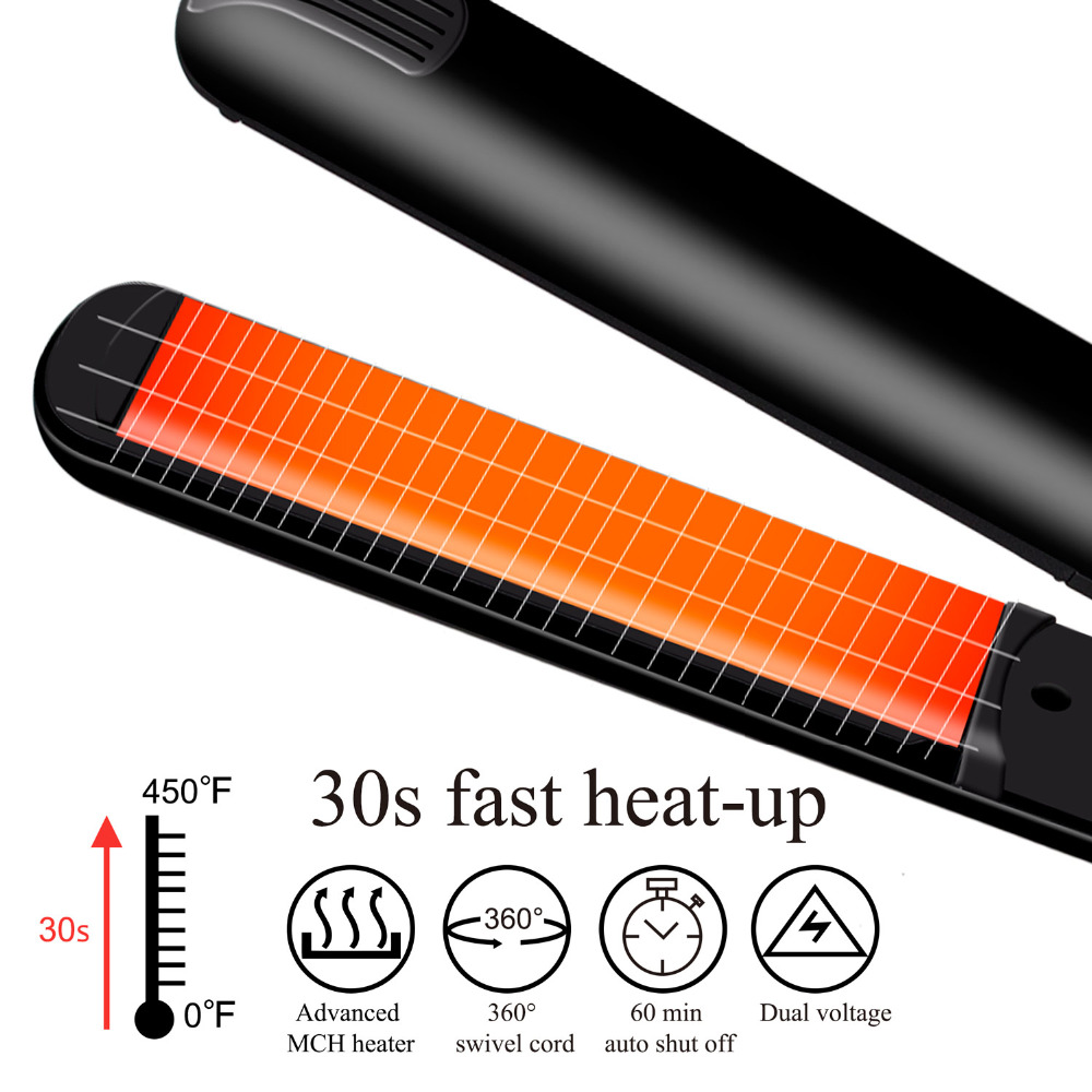 Madami Infrared Ions Ceramic Floating Plates Hair Straightener With LCD Display 110V-220V Dual Voltage Multi-function Flat Iron (10)