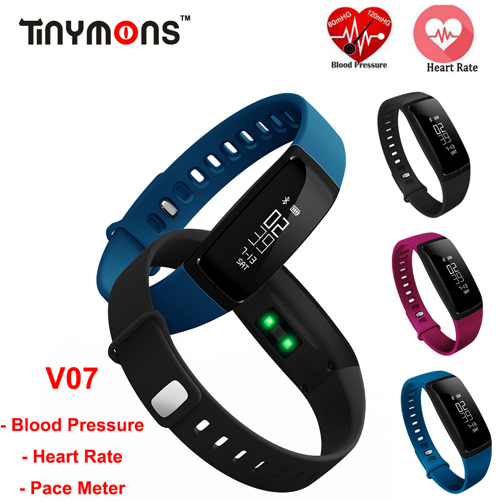 V07 Blood Pressure Wrist Watch Fitness Tracker monitor cardiaco Smart Wristband