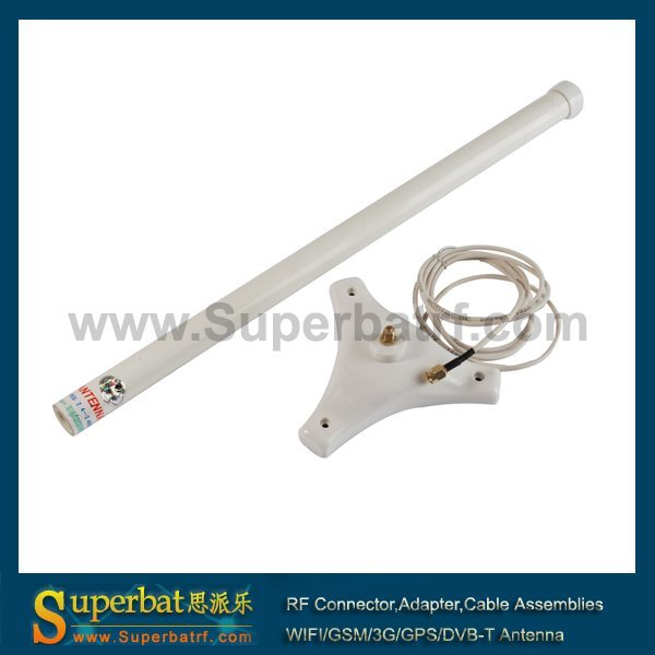 Superbat 2.4 ГГц 2400 ~ 2483 МГЦ 9dBi Omni Wi-Fi Booster Антенна антенна с RP-SMA 1.5 М Шнура Магнитным Основанием для Беспроводной СЕТЕВОЙ КАРТЫ AP