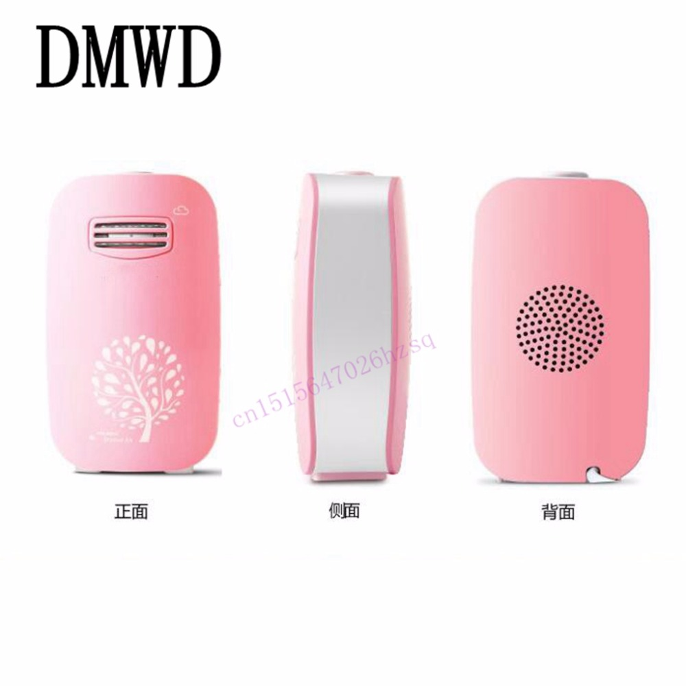DMWD Mini air purifier household negative oxygen ion generator anti radiation mute tcl air purifier tkj200f household living room removing haze formaldehyde pm2 5 secondhand smoke anion oxygen bar free shipping