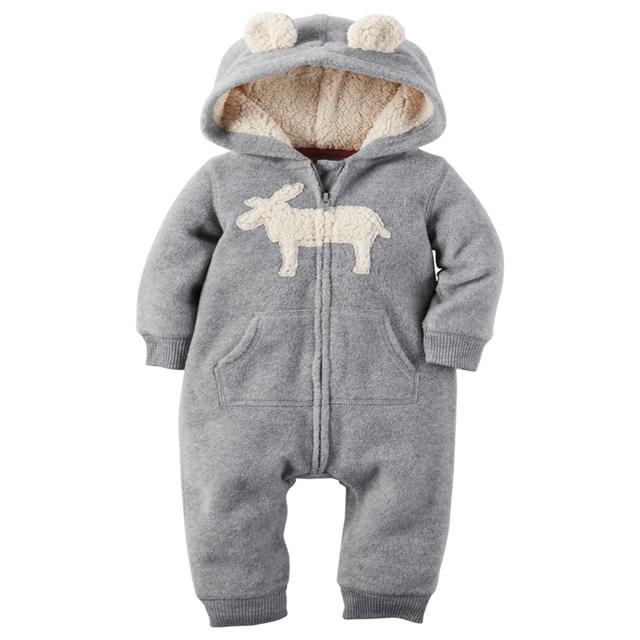 Casaco infantil bebes de nieve ropa de Invierno Mamelucos hoodies roupa niños ropa de una sola pieza Del Bebé Chicas chicos amor rosa trajes de jogging