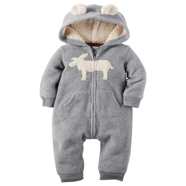casaco infantil bebes snow clothes Winter Rompers hoodies roupa kids clothing one piece Baby Girls boys love pink jogging suits