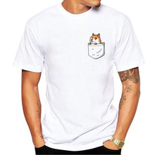 Creative Dog Design Men T Shirt Pug Printed T-shirt Short Sleeve Casual French Bulldog Tops cat