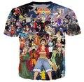 2015 New Japanese anime One Piece Naruto Dragon ball  3d  Cartoon t shirt summer style t shirt men/women  plus size S-4XL