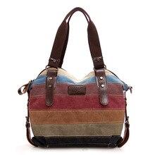 Leinwand handtasche clutch bag in Europa und die regenbogen streifen Mosaik mode weibliche paket
