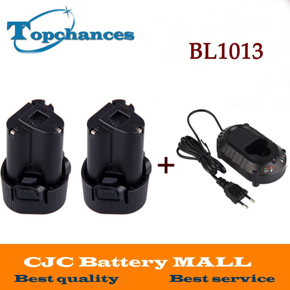 2X Battery for Makita 10.8V 10.8 Volt BL1013 BL1014 TD090D TD090DW LCT203W 194550-6 194551-4Li-ion Electric Power Tool+Charger bl1013 electric tool battery 10 8v max 12v 2000mah for makita bl1014 electric power tool battery li ion power tool battery