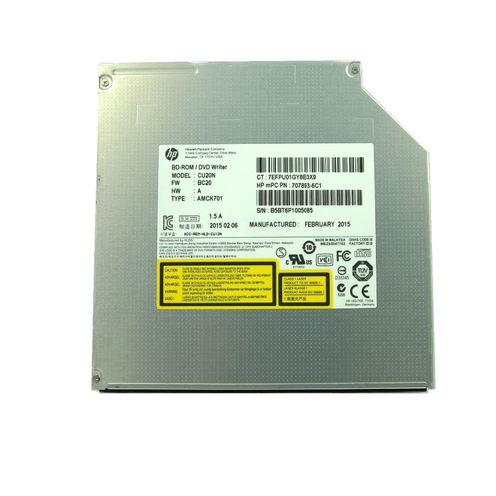 купить Blu-Ray 6X BD COMBO /CD/DVD Burner CU20N for Dell Asus & HP Lenovo 9.5 MM slim SATA по цене 4079.17 рублей
