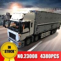 Лепин 23008 технических серии MOC крыло кузов грузовика комплект legoingly 1389 развивающие игрушки Building Block кирпичи, чтобы Детский подарок