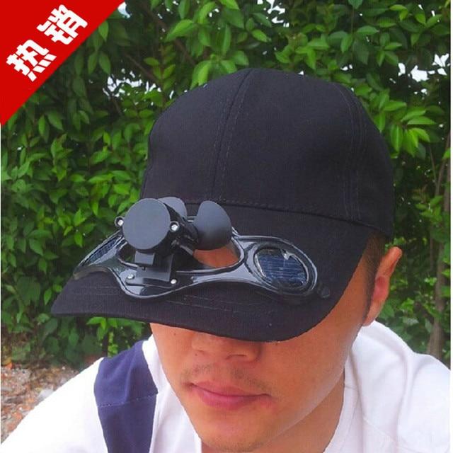 Solar Fan Cap Sun Visor Cap And Peaked Cap Solar Hat-in Sun Hats ... 536493377fd