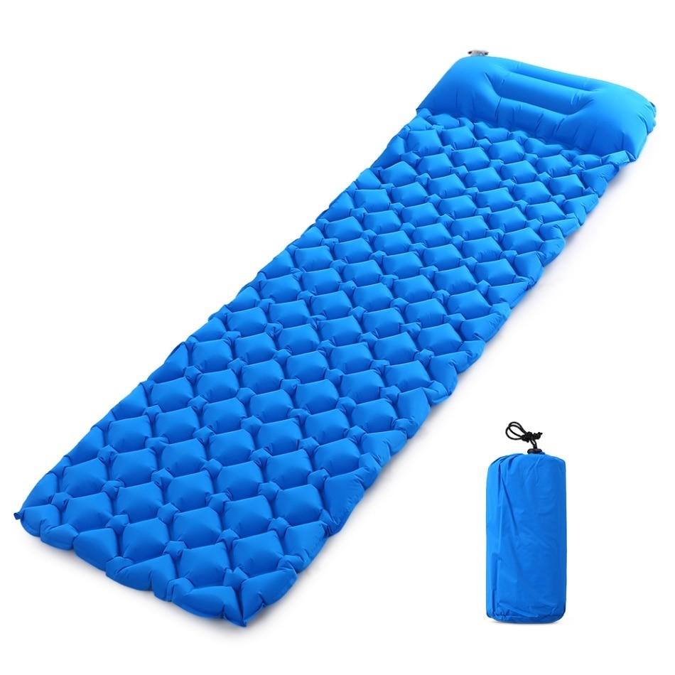 Image 5 - Inflatable Beach Mat Air Mattress Picnic Mattress With Pillow Sleeping Bag Cushion Air Sofas Inflatable Sleeping Pad Camping Mat-in Camping Mat from Sports & Entertainment