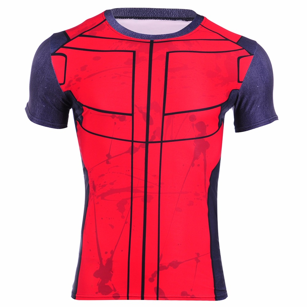 New Fashion Fitness Compression Shirt Men Cosplay Male Crossfit Circuit Board Tshirts Click