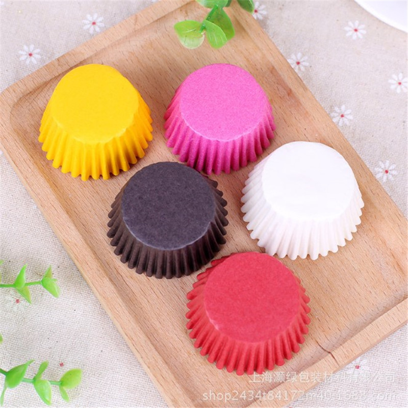 Image 5 - 500pcs Mini Colorful Paper Cake Cupcake Liner Baking Muffin Box Cup Case Party Tray Cake Mold Decorating Tools-in Cake Molds from Home & Garden