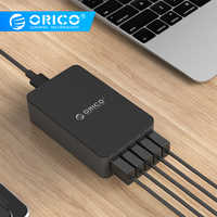 ORICO 5 Port 5V2.4A Desktop Charger Adapter 8A 40W USB Travel Charger EU US UK AU Plug