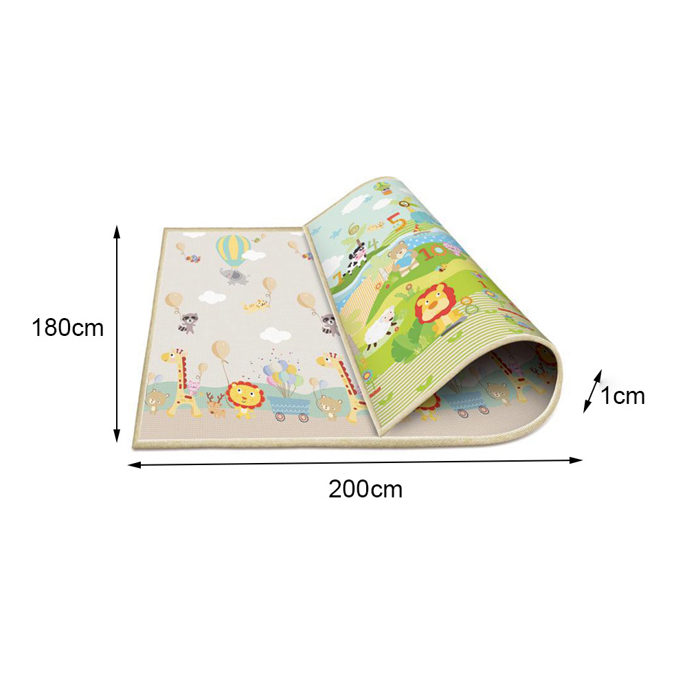 Tapis de jeu bébé épais bébé ramper Pad Double Surface bébé tapis tapis dessin animé Animal développement tapis pour enfants tapis de jeu - 3