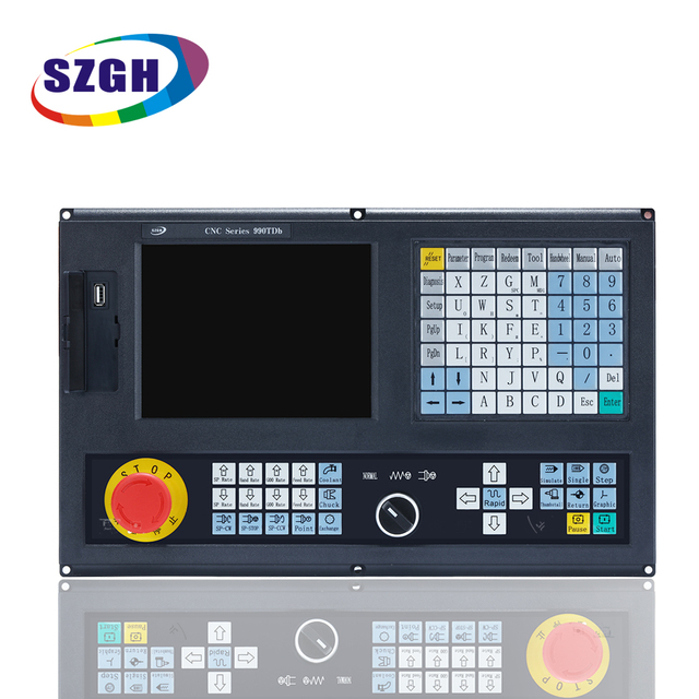 Best price 2  Axis CNC Lathe Controller  New version CNC990TDb  English panel English software