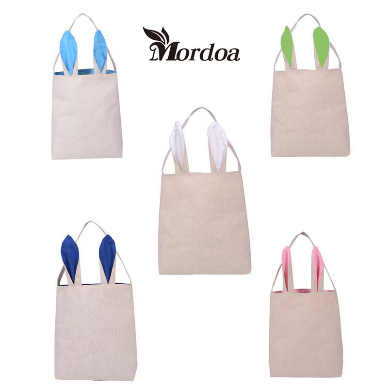 Online buy wholesale rabbit ear material bags from china rabbit mordoa 5pcs easter gift bag cotton burlap material rabbit ear shape bags for kids gifts packing negle Images