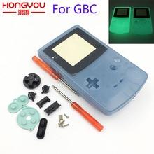 プラスチック発光ハウジングシェル蛍光場合 GBC ゲームボーイカラー青緑色の色ケースカバー