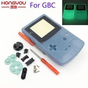Image 1 - พลาสติก Luminous Shell เคสเรืองแสงสำหรับ GBC Gameboy สีเรืองแสงสีฟ้าสีเขียวสีกรณี