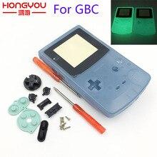Z tworzywa sztucznego Luminous obudowa Shell futerał fluorescencyjny dla GBC Gameboy kolor blask niebieski zielony kolor skrzynki pokrywa