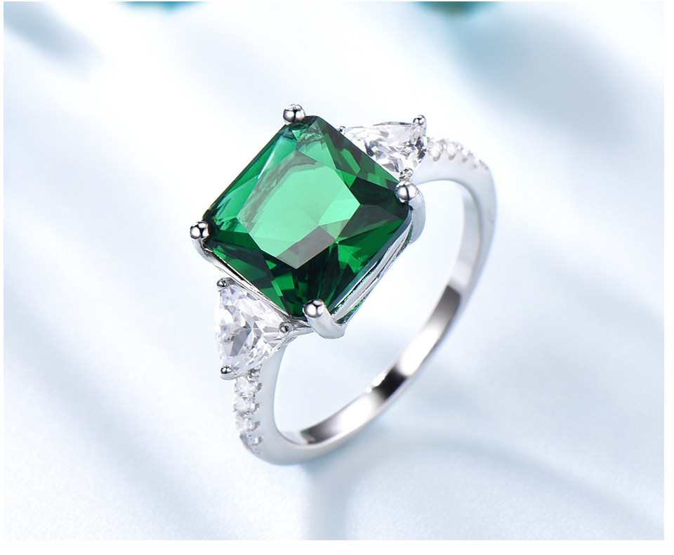 UMCHO Emerald  925 sterling silver rings for women NUJ092E-1 -pc (5)