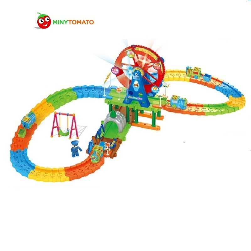 Sky Wheel Park III DIY Track Electric Train Building Block Toy  Boy Gift Learning&Educational Toys For Chilren 2149A Withno Box d418 thomas train track toy electric toy happy farm gift set eyes will move