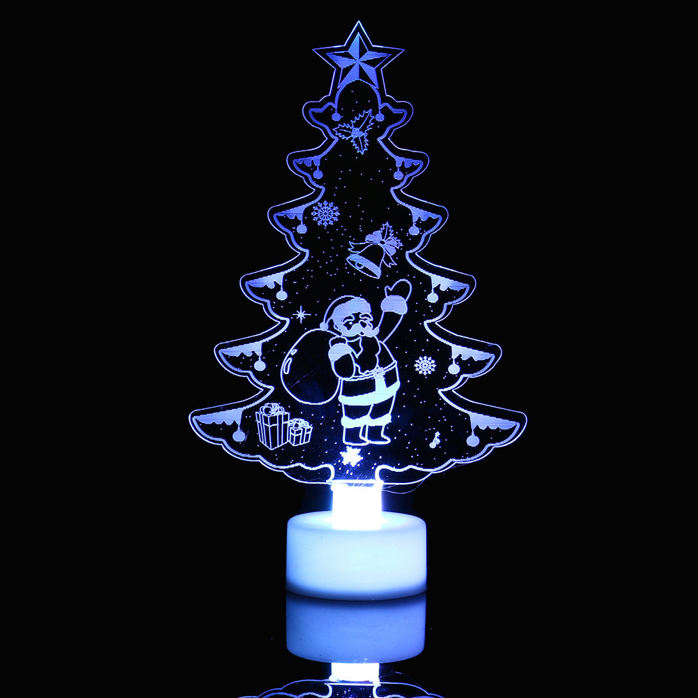 Us 1 15 46 Off Hot Color Changing Merry Christmas Lightings Snowman Multi Led Light Clear Acrylic Tree Mood Lamp Night In Holiday