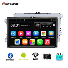 hot deal buy topsource car multimedia player 9001rds android 2 din gps 9 inch wifi car radio for vw/volkswagen/polo/passat/golf/skoda/fabia