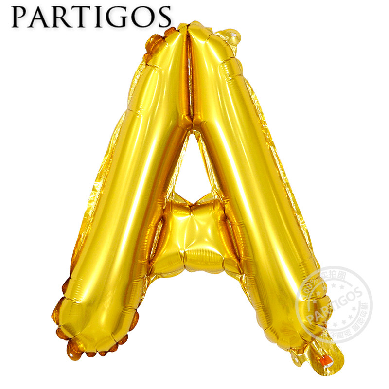 13pcs/lot Happy Birthday Balloon Silver Gold Slim Alphabet Helium Foil Birthday Letter for Party Decoration Globos Supplies