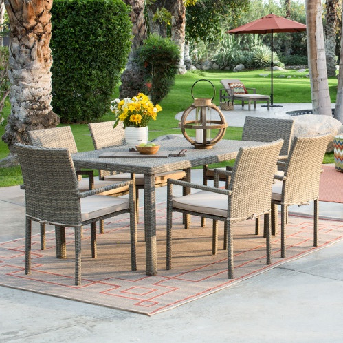 2017 Factory direct sale Outdoor Garden Furniture All Weather Wicker Patio Dining Set