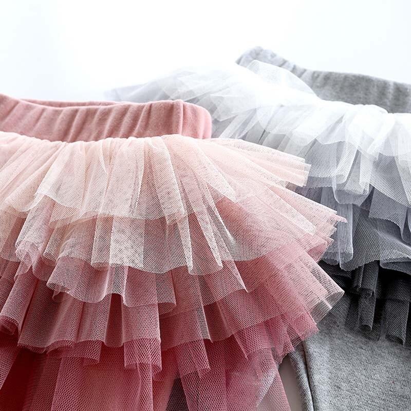 Baby Girls Pants Cotton Leggings With TUTU Skirts Girls Trousers Kids Leggings Clothes Skirt-Leggings4