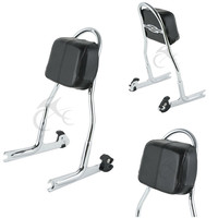 Detachable Passenger Sissy Bar Backrest For Harley Softail Fat Boy Deluxe FLSTN FLSTF FXSTB 2005 2017 Motorcycle