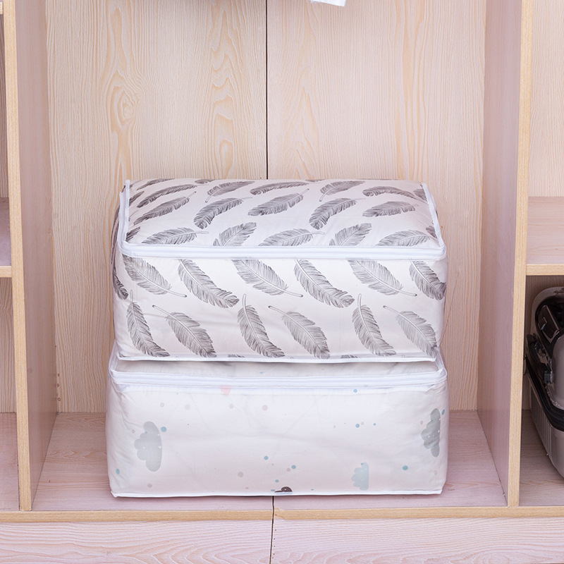 BalleenShiny PEVA Cotton Quilt Storge Bags Large Volume Cloth Bed Sheet Neaten Bags Household Feather Pouch Moving House Tools