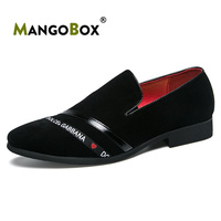 Mangobox 2019 Men Loafers Fashion Lightweight Casual Shoes Spring Autumn Pointed Toe Shoes Red Black Slip On Shoes Man