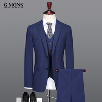men suit 10% silk 70% wool high quality brand clothing summer autumn latest coat pant design men suits for wedding slim blue 3pc
