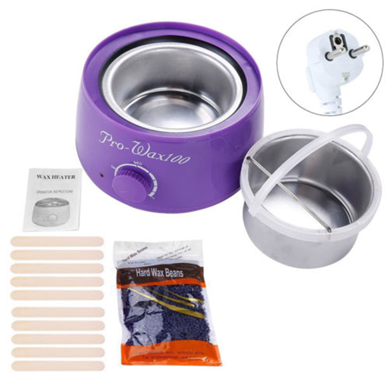 F Fpurple Wax Warmer Hair Removal Hot Wax Heater Machine With