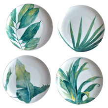 Colorful Plants Printed Ceramic Plates