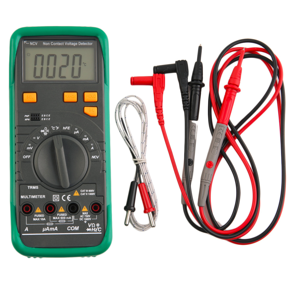 2017 MS8268N PRO TRUE RMS Auto Range AC DC Voltage Current Frequency Resistance Capacity Diode Test Tester Digital Multimeter