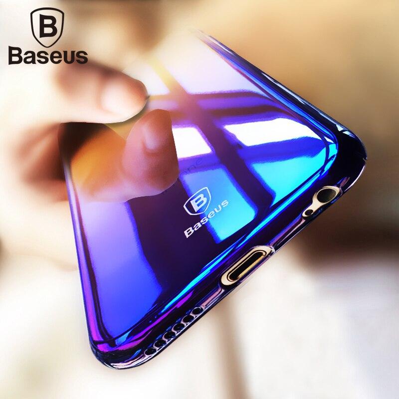 Galleria fotografica Baseus For iPhone 6s 6 Case Luxury Ultra Thin Hard Plastic Case For Coque iPhone 6s Plus 6 Plus Cases Bule Ray Light Cover