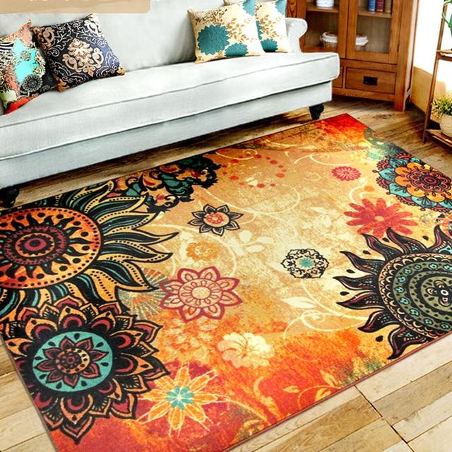 Home Decor European Persian Style Parlor Carpet Vintage Rectangle Bedroom  Carpet Sofa Carpet 133x190cm