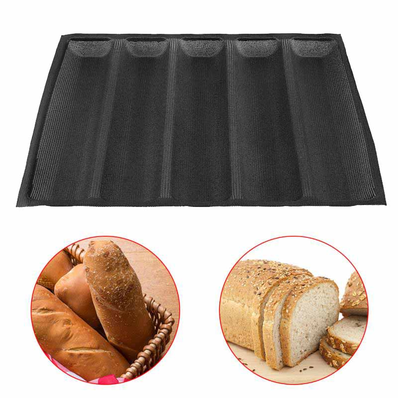12 Inch Non Stick Silicone Bread Pans Baking Tray 5 Loaf