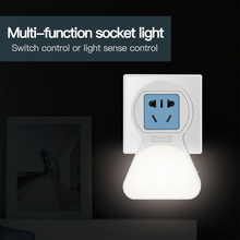 Plug-in Night Light,Compact with Socket+Plug+USB Charging Port,LED Lamp Dusk to Dawn Sensor, USB light
