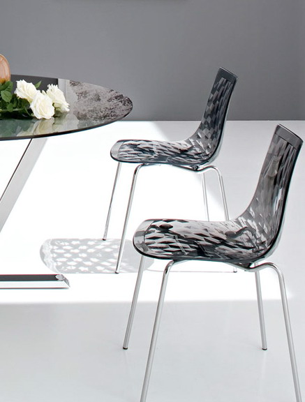 Minimalist Modern Design Transparent Seat Steel Metal Leg Base Dining Side Chair Popular Beautiful Nice Clear