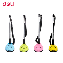 Deli gel pen smile face black ink kawaii stationery pen cute ballpoint office & school supplies stationery for writing 0.5mm pen(China)