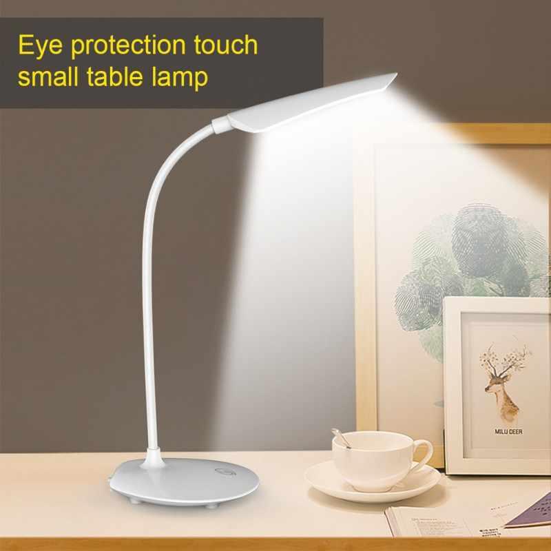 USB Aufladbare LED Schreibtische Tisch Lampe Schlafzimmer Faltbare Augenschutz Lampen Einstellbarer intensität Lesen Licht Buch licht