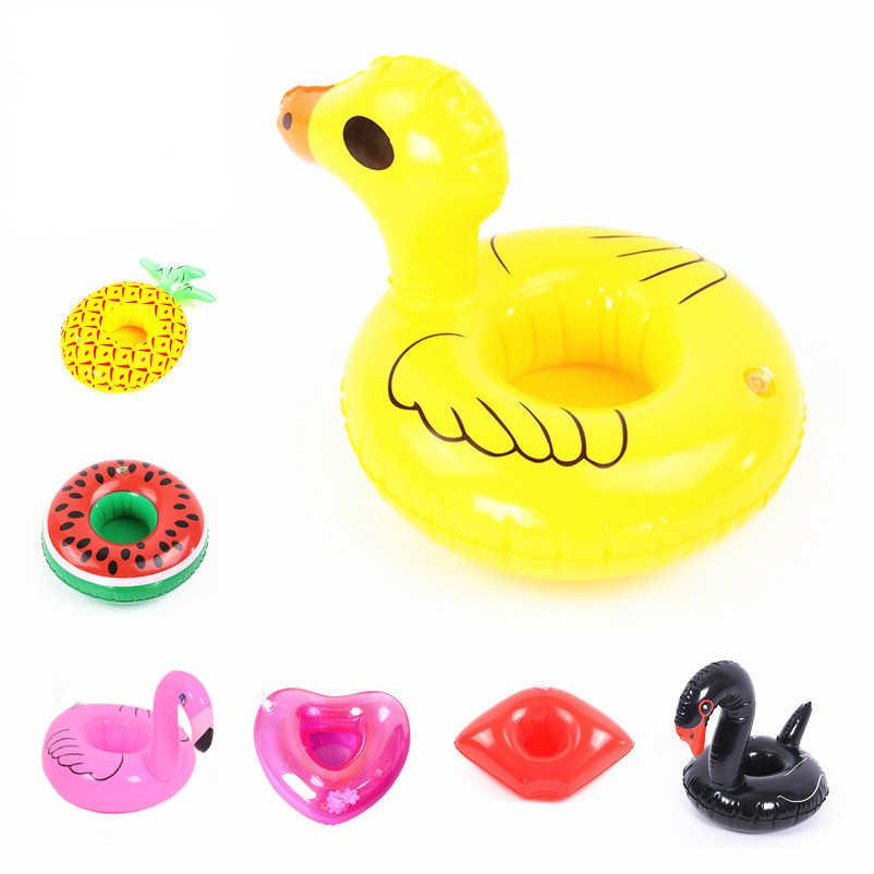 Hawaii Luau Party Flamingos/Abacaxi/Coco Beber Copos de Plástico Inflável Piscina Flutuante Suporte de Copo Fontes Do Partido Da Praia do Verão