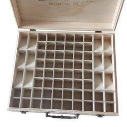 68 szczelin duże rozmiary drewniane olejki eteryczne pudełko z litego drewna pojemnik do przechowywania aromaterapia butelki do przechowywania organizator