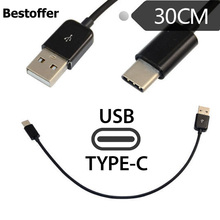 цены на USB 3.1 Type C to USB Type A Cable Male to Male Fast Charging Data Cord 30cm Black White Color Type-C  в интернет-магазинах
