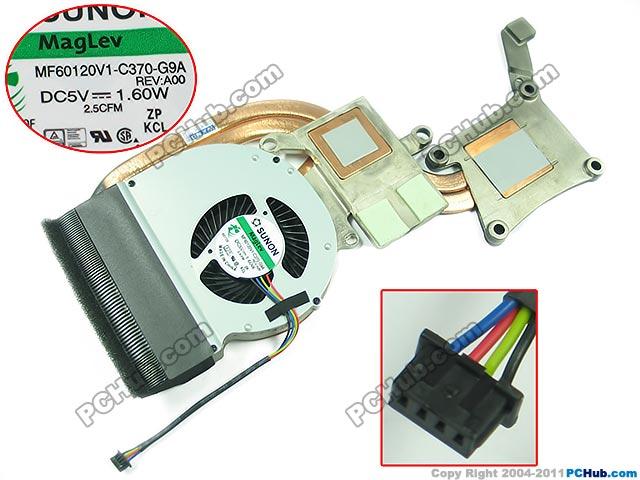 SUNON DP/N: 9C7T7 09C7T7, MF60120V1-C370-G9A DC 5V 1.60W Heatsink fan for dell e5430 082jh0 82jh0 fan bata0613r5h dc28000afvl mf60120v1 c430 g9a ksb0505ha